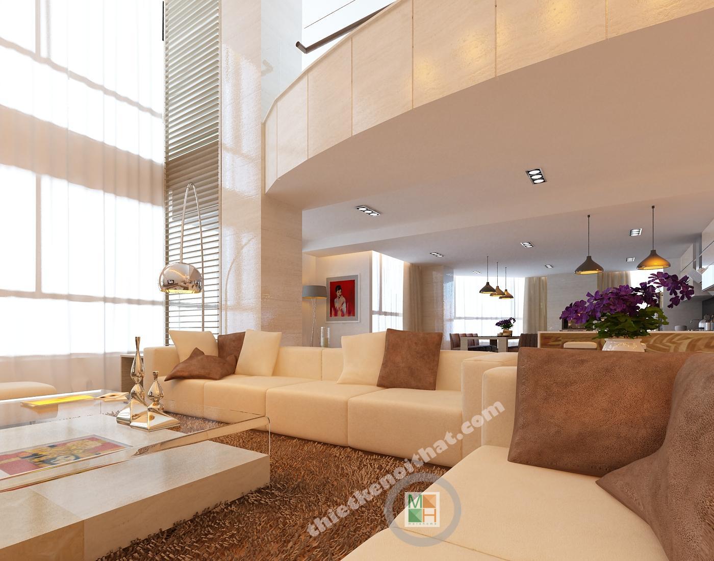 Thiết kế nội thất Penthouse tại Viglacera Hoàng Hoa Thám