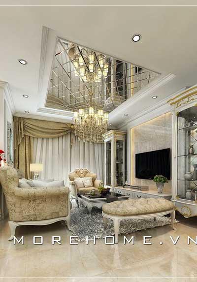 Thiết kế nội thất phòng khách cao cấp, độc đáo cho biệt thự, nhà phố, chung cư