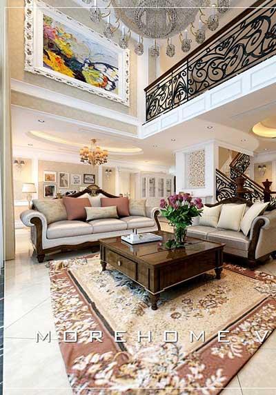 Thiết kế nội thất phòng khách chung cư đương đại, Á Đông, tân cổ điển đẹp, sang trọng