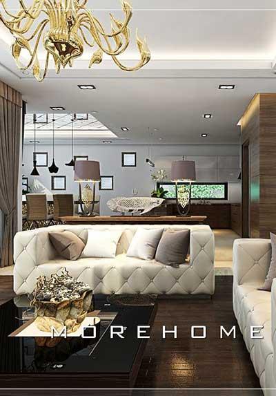 Thiết kế nội thất phòng khách đương đại lạ mắt, độc đáo, sáng tạo