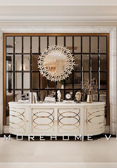 Thiết kế nội thất tân cổ điển chung cư cao cấp Vinhomes Nguyễn Chí Thanh - Chị Hà