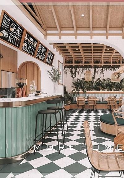 Thiết kế quán cafe & Trà sữa KOMBUCHA