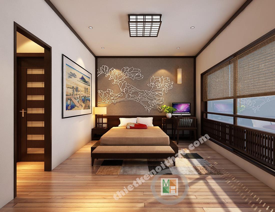 Thiết kế nội thất nhà phố kiểu Nhật