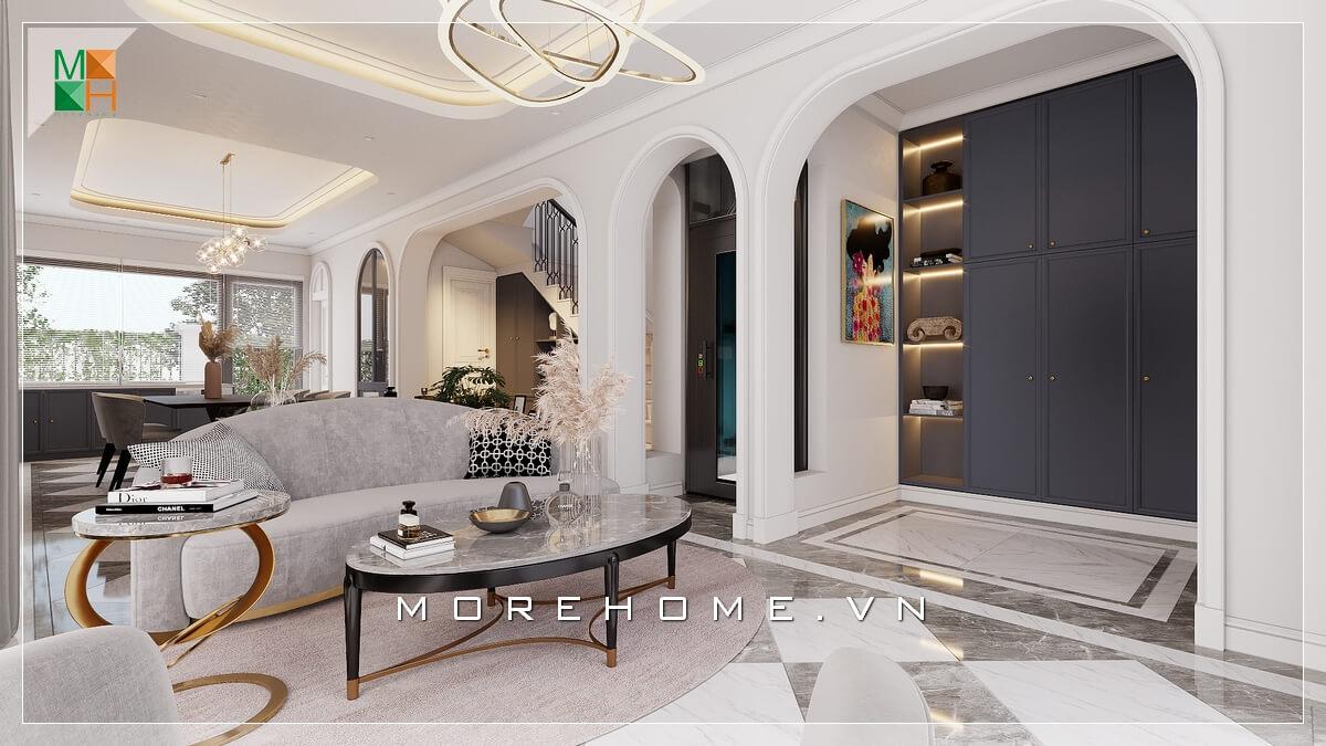 Gợi ý các mẫu thiết kế phòng khách tân cổ điển đẹp và sang trọng