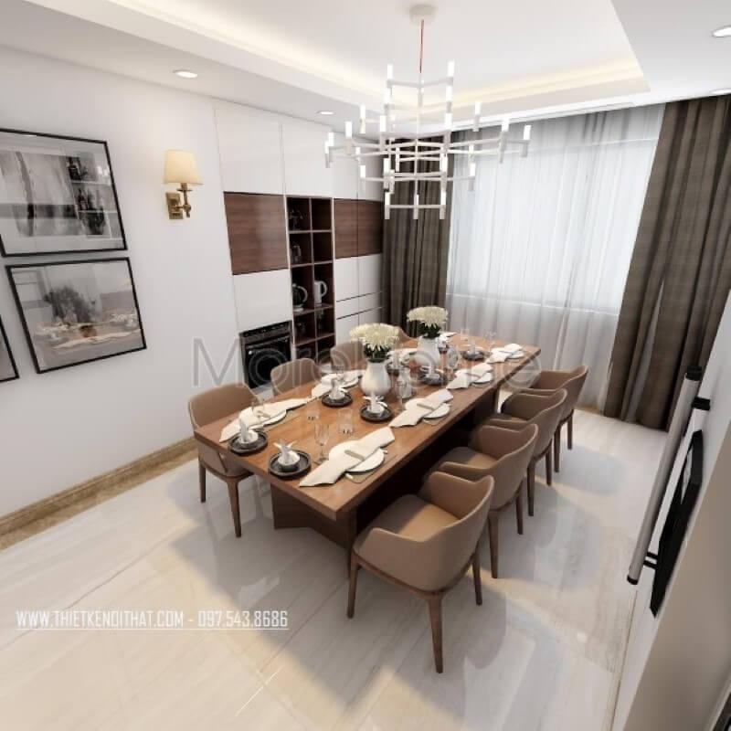 Thiết kế phòng ăn đẹp xuất sắc cho không gian sống của gia đình