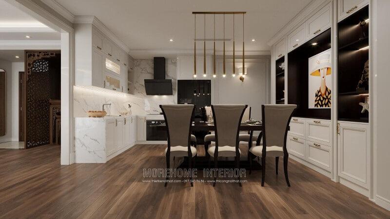 Thiết kế phòng bếp tiện nghi ăn khách trên thị trường nội thất hiện nay