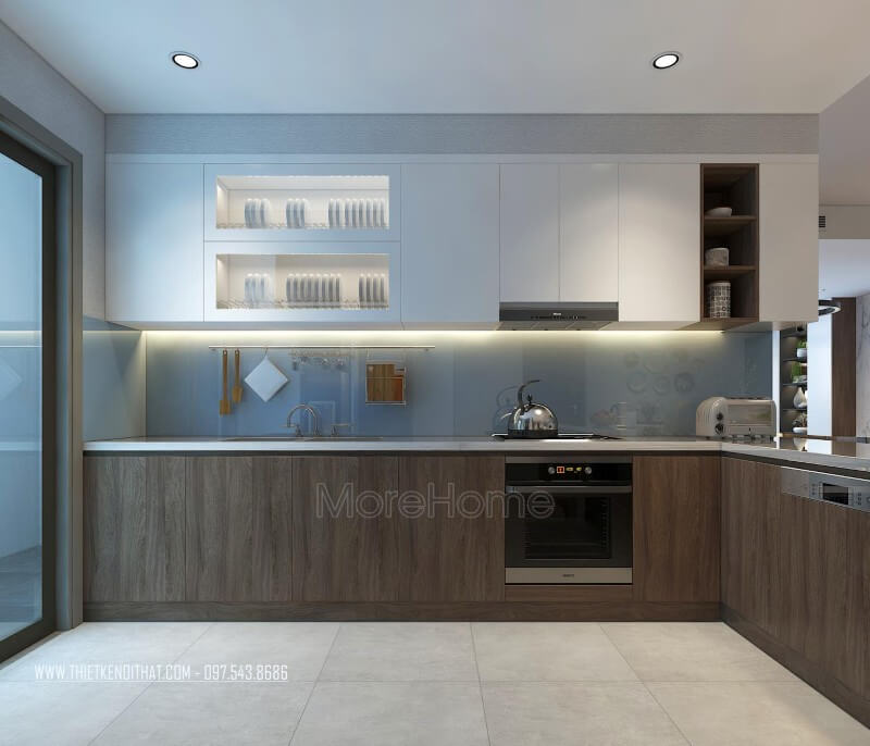 Thiết kế nội thất phòng bếp giúp thể hiện sự sang trọng và lịch sự của gia chủ