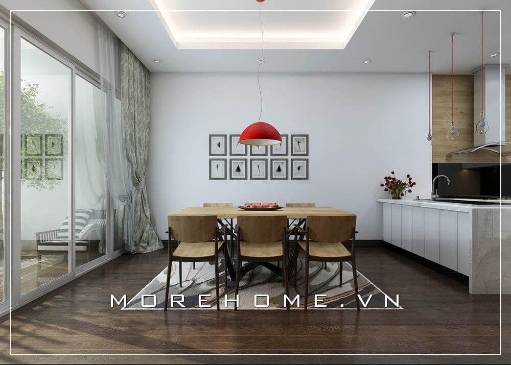 Thiết kế phòng ăn đẹp ấn tượng cho không gian sống của gia đình