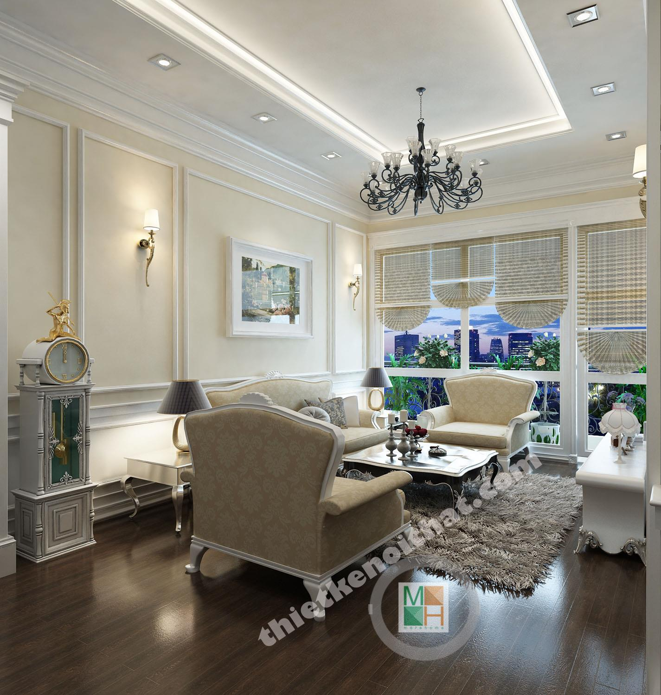 Thiết kế nội thất nhà lô phố phong cách Tân cổ điển