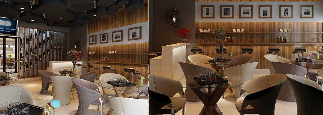Thiết kế quán cafe gia đình