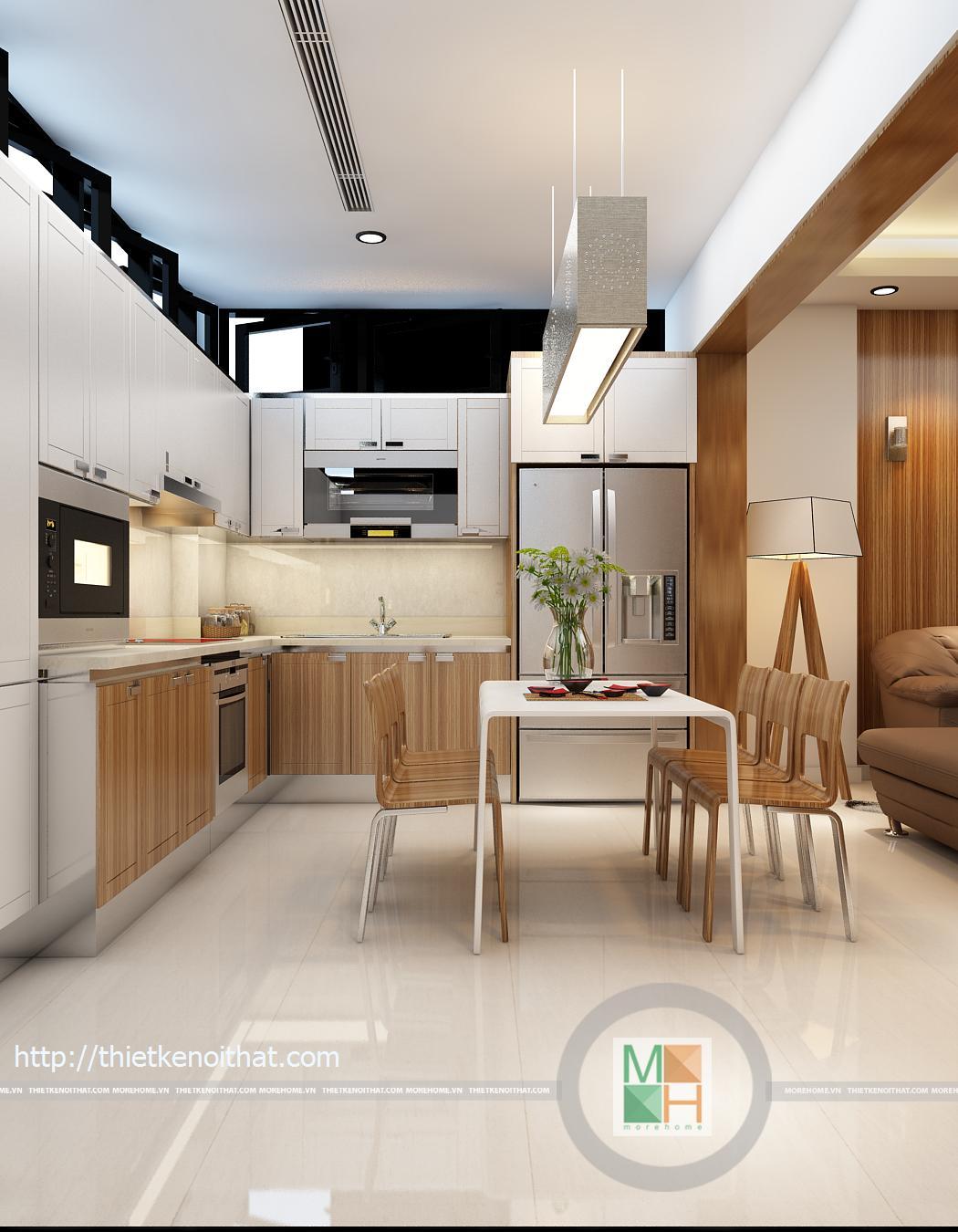 Thiết kế nội thất nhà liền kề khu đô thị Vân Canh