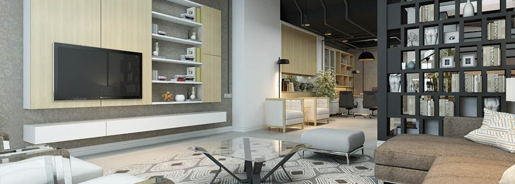 Thiết kế nội thất nhà liền kề kết hợp văn phòng làm việc