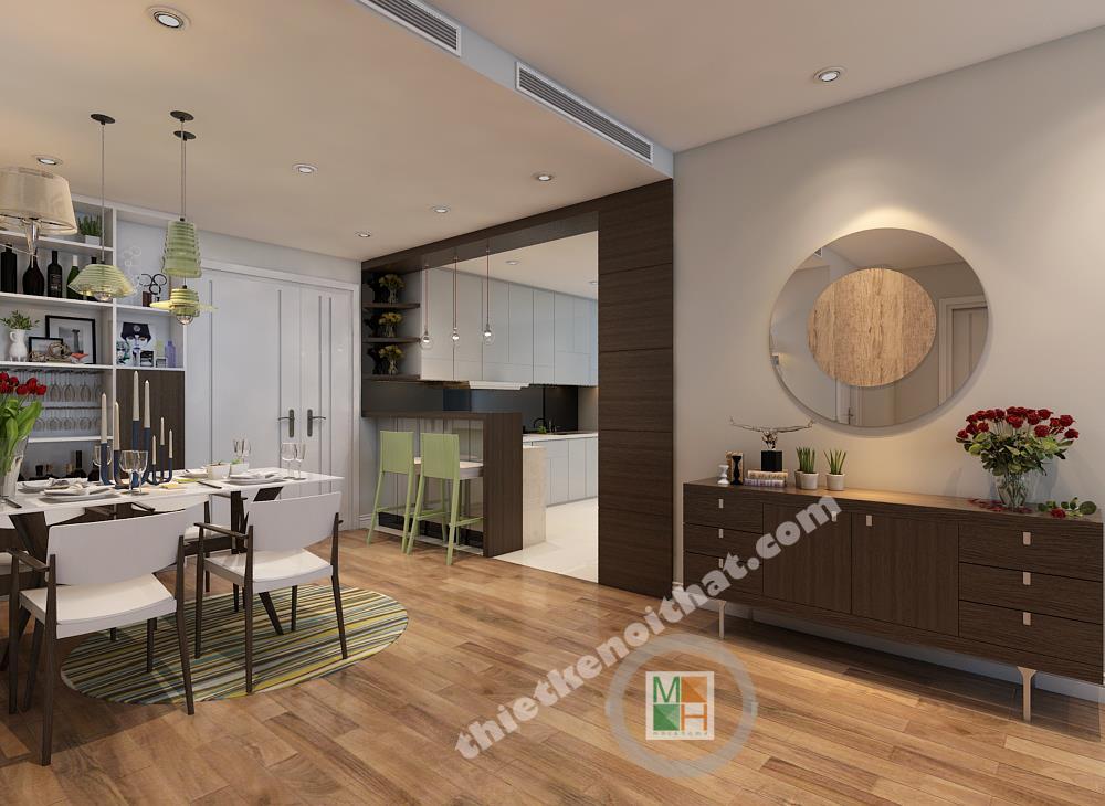Thiết kế nội thất chung cư Hòa Bình Green
