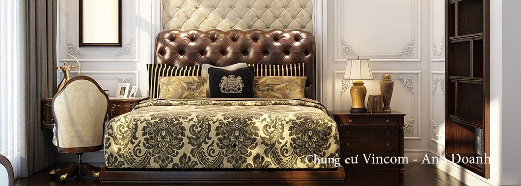 Thiết kế nội thất chung cư Vincom Bà Triệu Hai Bà Trưng phong cách tân cổ điển sang trọng