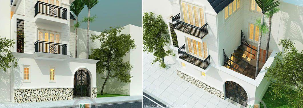 Thiết kế kiến trúc biệt thự Việt Hưng