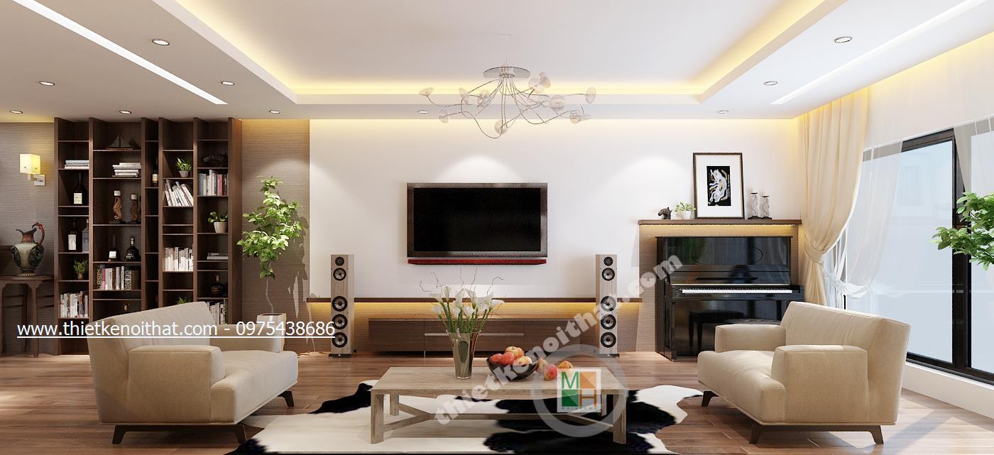 thiết kế phòng khách hợp với từng hộ gia đình