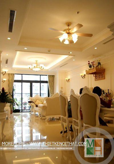 Thi công nội thất chung cư R1 Royal City - Mr Phú