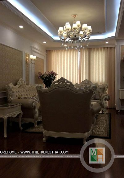 Thi công nội thất chung cư cao cấp Royal City - Anh Nghĩa