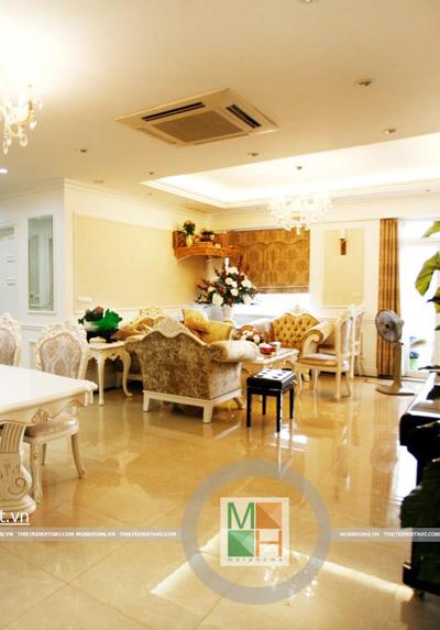 Thi công nhà chị Dương chung cư Sông Hồng Park, 165 Thái Hà