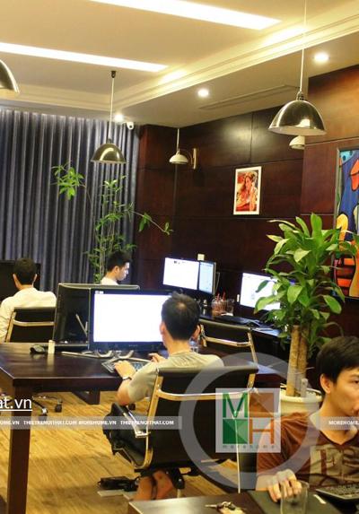 Thi công nội thất đồ gỗ văn phòng tại Royal City - Mr Tuấn