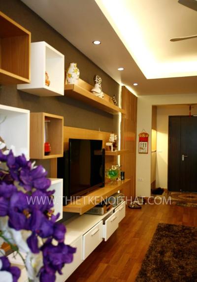 Thi công nội thất chung cư Mandarin Garden - Chị Hiền