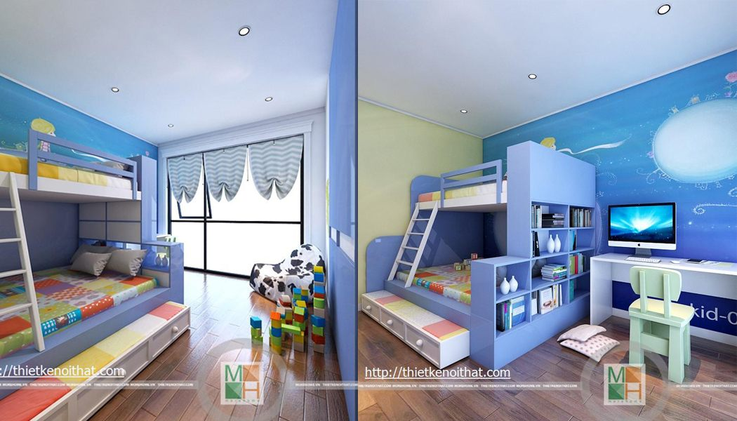 Mẫu giường tầng 01