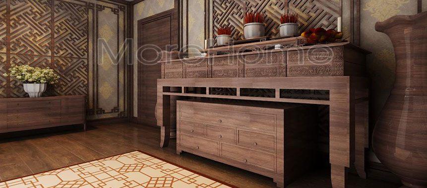 Bàn thờ gỗ đẹp phong cách Cổ Điển - Mẫu 05