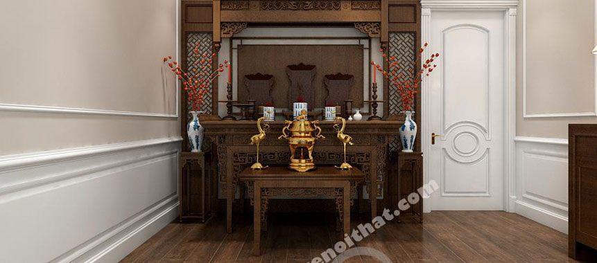 Bàn thờ gia tiên 2 tầng - Mẫu 010