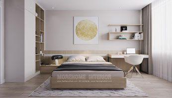 Giường ngủ gỗ hiện đại đẹp cho căn hộ Mandarin Garden