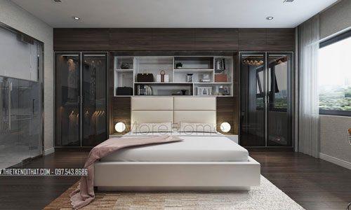 Mẫu giường ngủ đẹp cho chung cư Season Avenue