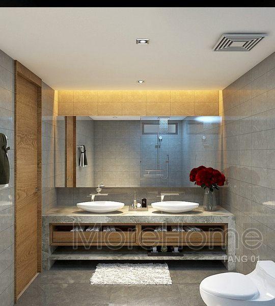 hiết kế nội thất phòng tắm nhà phố Vincom - Rạch Giá Kiên Giang