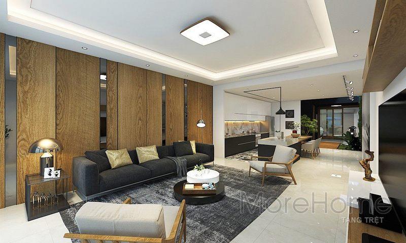 hiết kế nội thất nhà phố Vincom - Rạch Giá Kiên Giang