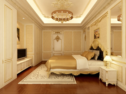 Thiết kế phòng ngủ cổ điển cho những người ưa sự hoài cổ