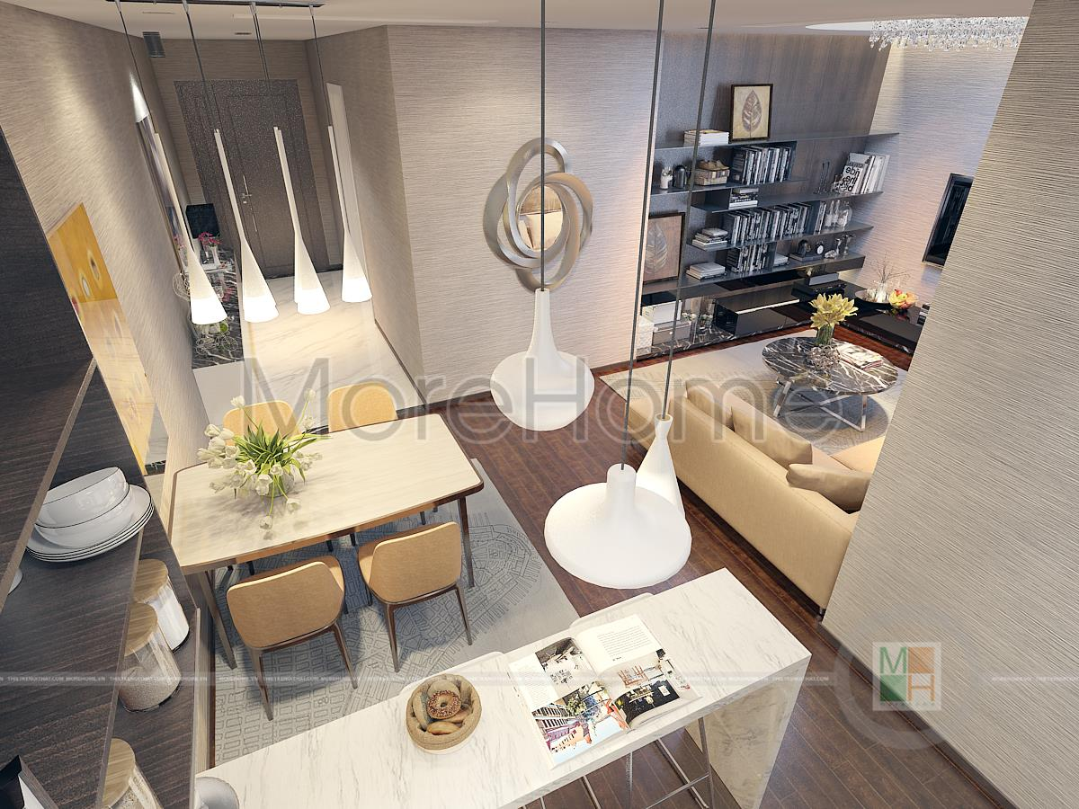 Thi t k n i th t c n h imperia garden for 45 square meter house interior design