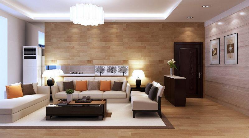 không gian phòng khách rộng rãi