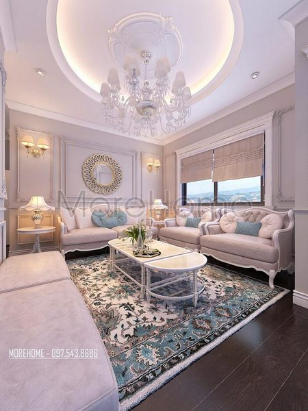 Đơn vị thiết kế nội thất phòng khách giá rẻ
