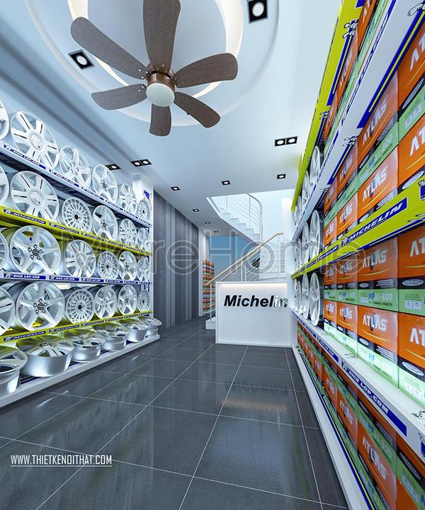 trưng bày sản phẩm ấn tượng trong showroom cửa hàng
