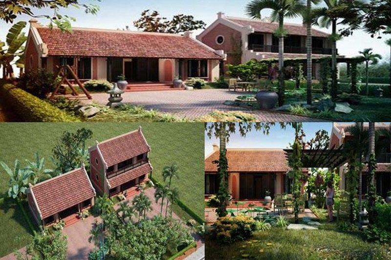 Mẫu thiết kế biệt thự vườn nông thôn 3 gian đẹp đậm truyền thống Việt Nam