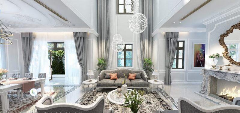 Tư vấn thiết kế nội thất biệt thự Vinhomes The Harmony phong cách Pháp tiểu  khu Phong Lan P3