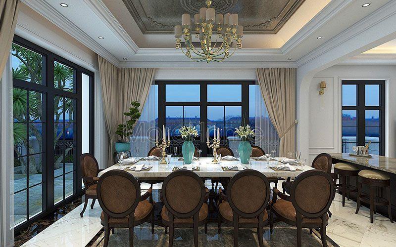 Chiêm ngưỡng vẻ đẹp trong thiết kế nội thất biệt thự tân cổ điển