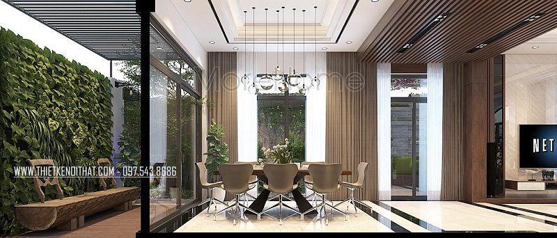 Mẫu thiết kế kiến trúc nội thất xanh đẹp, ấn tượng